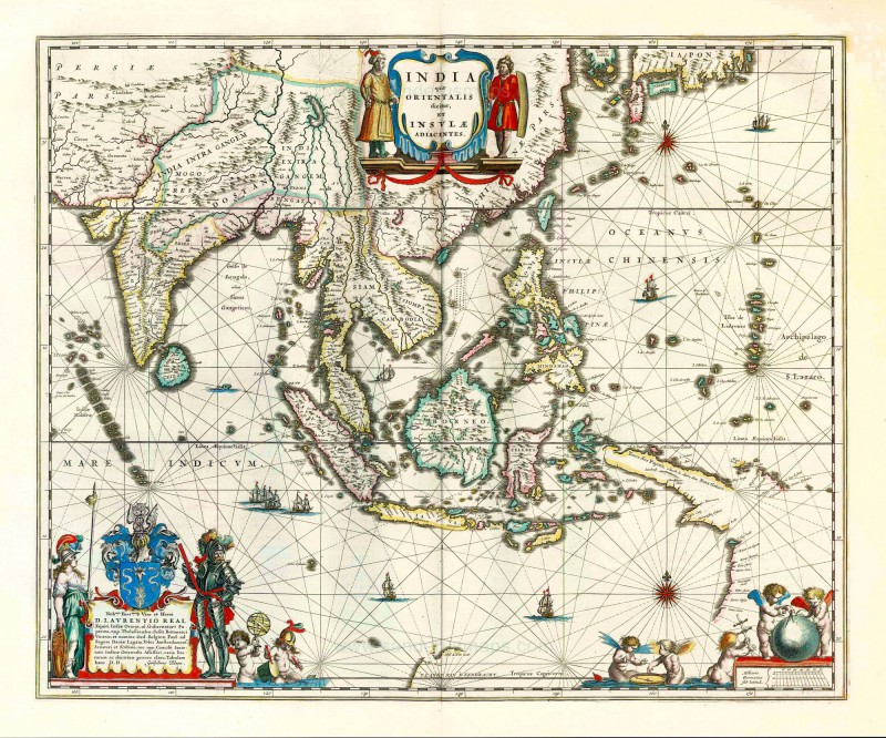WILLIAM JANSZON Blaeu the founder of the great map publishing. BLAEU WALL MAP